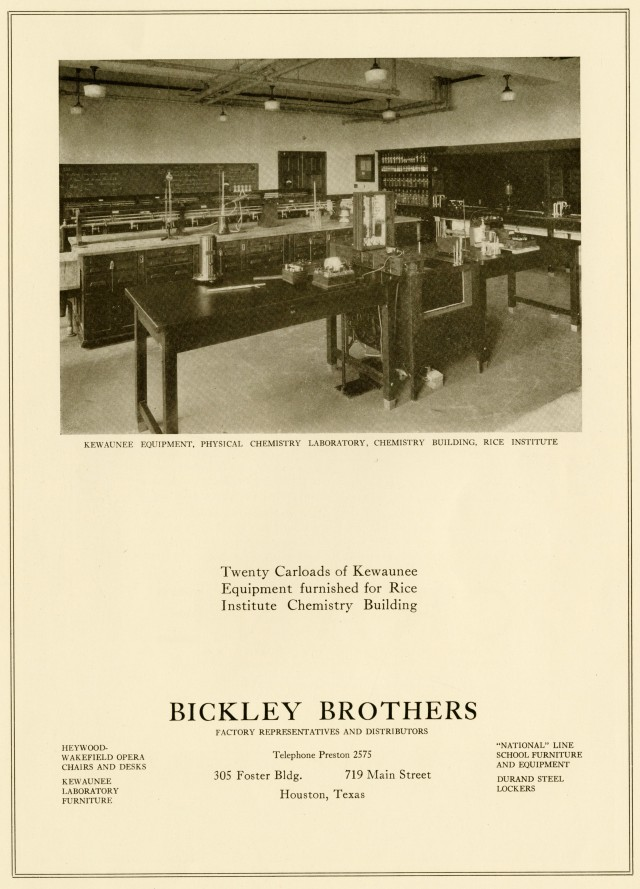 Chemistry Building equipment ad c1927048