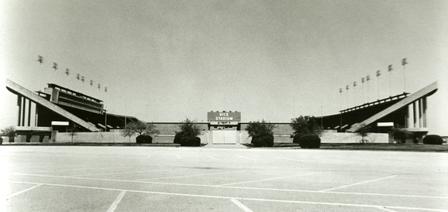 New Rice stadium ground level 1950