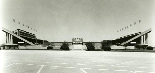 New Rice stadium ground level 1950