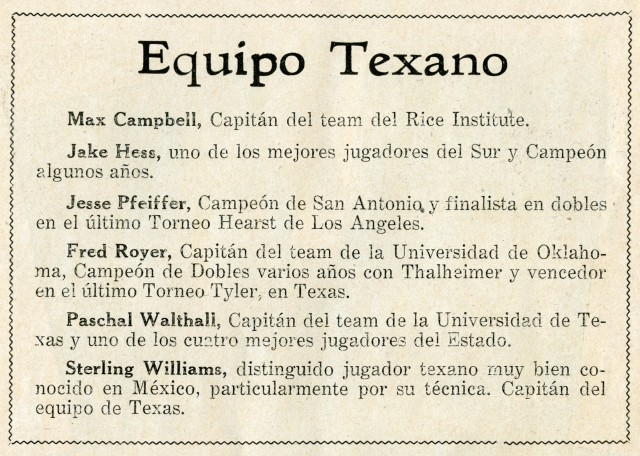 Quinto Equipo Texano 1937