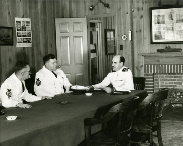 Rice Naval ROTC staff Inside Navy Building October 1943005