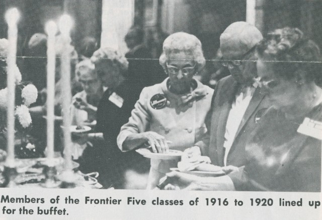 Frontier 5 Reunion 1969 buffet