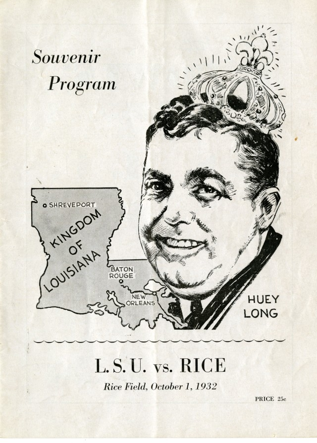 LSU vs Rice 1932 Huey Long