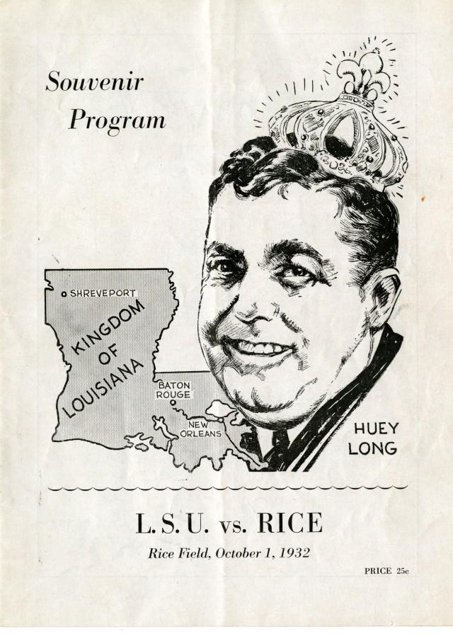 LSU vs Rice 1932 Huey Long