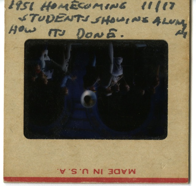 New Morehead slide Homecoming 1951 label JFD