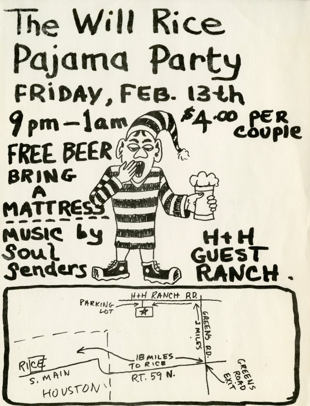 Will Rice pajama party flyer 1970053