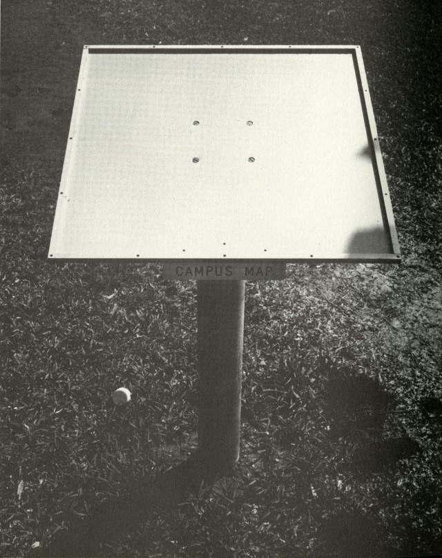 1966 Campanile campus map