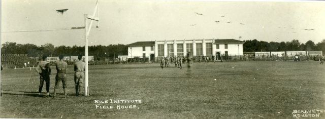 Football Fieldhouse with airplane c1922 046