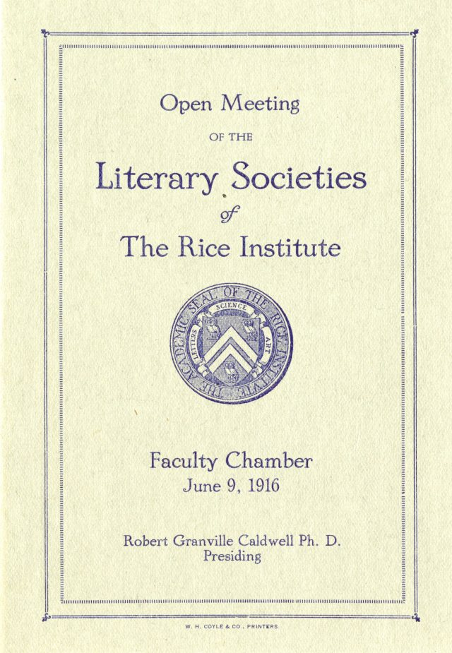 Literary societies 1916 1 045