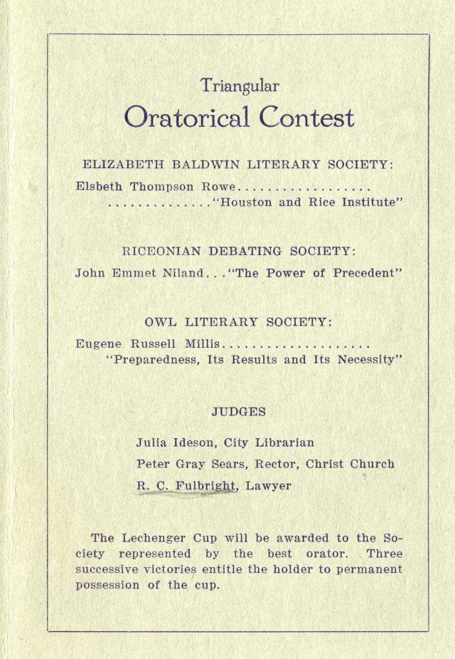 Literary societies 1916 3 047