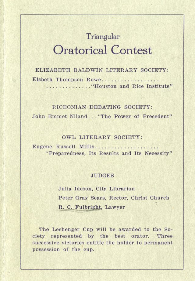 Literary societies 1916 3 047