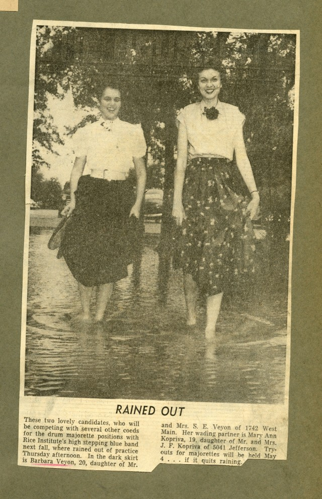 Rained Out 1953 EBLS scrapbook