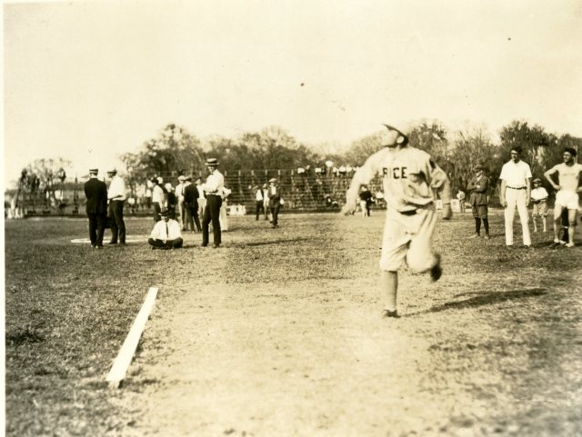 Campbell throwing javelin 20s 045