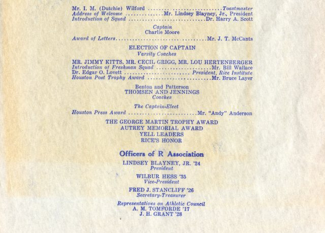 R Association banquet 1937 program 4 Cohen House Papers 063