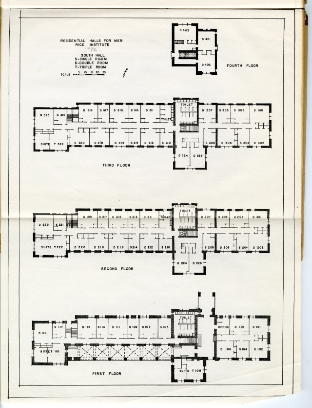 residential halls for men report nd south hall 1942 047