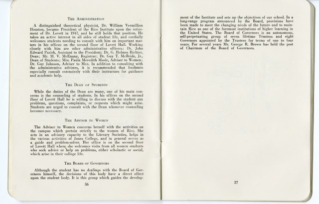 Student Handbook fall 1958 3051