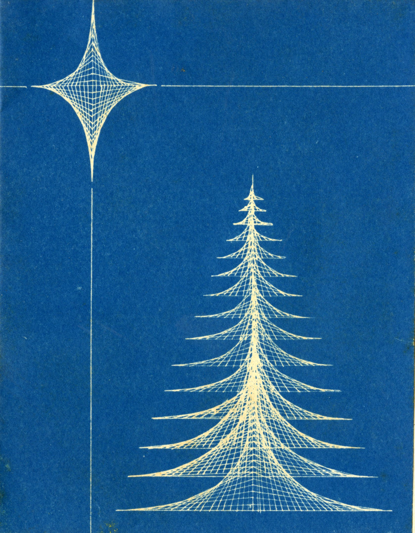 christmas ive come across two nice holiday cards sent out by the rice school of architecture the first one is undated but seems from context to be